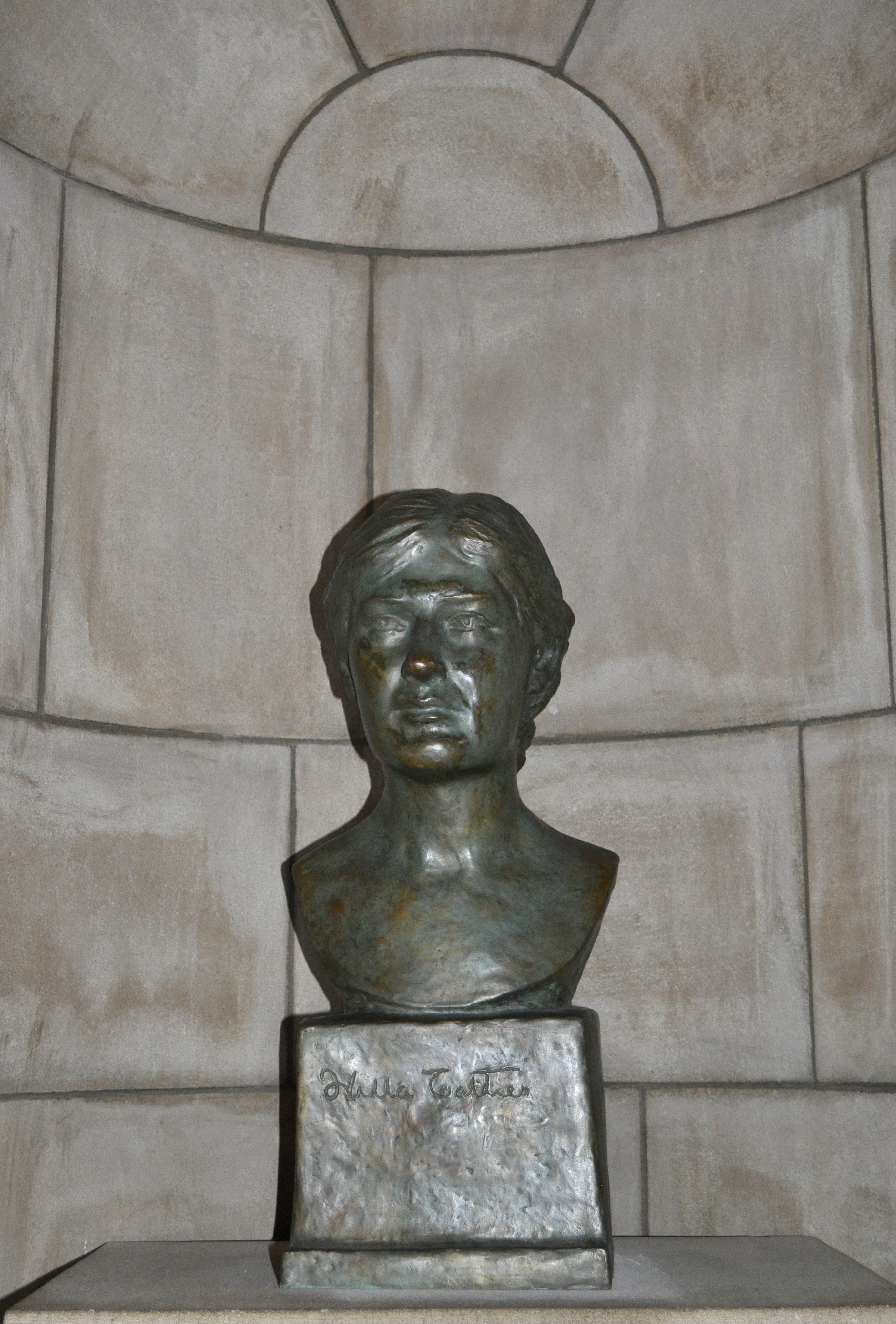 Bust of Willa Cather in the Nebraska Hall of Fame