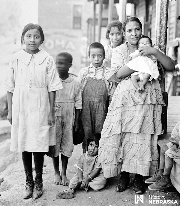 Mother and five children, 1920s