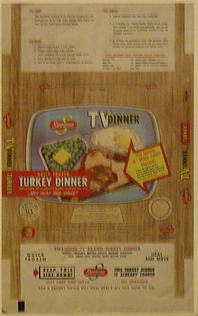 Swanson TV dinner poster Source: Loaned by Archives & Special Collections, University of Nebraska-Lincoln Libraries