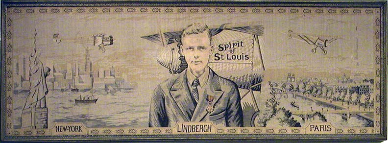 Tapestry, Lindbergh flight to Paris 1927,  Source: John Costello, Norfolk, 10529-1
