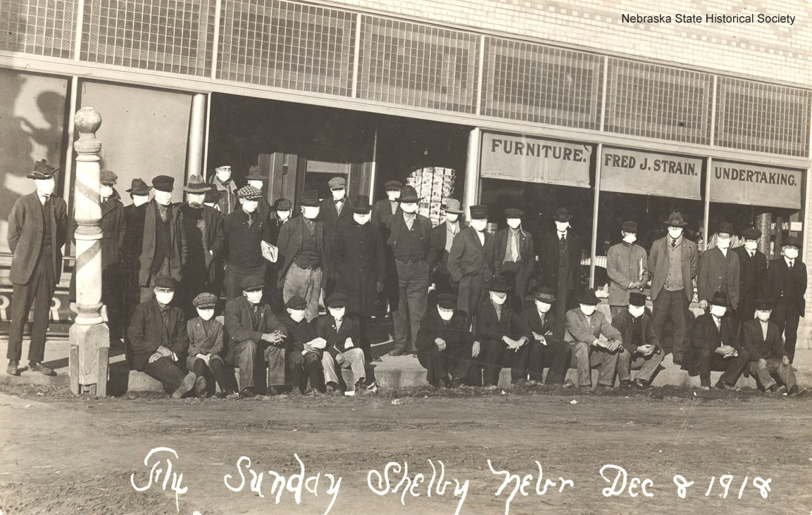 Flu Sunday, Shelby, Nebraska Dec 1918 (RG2071.PH0-000002)