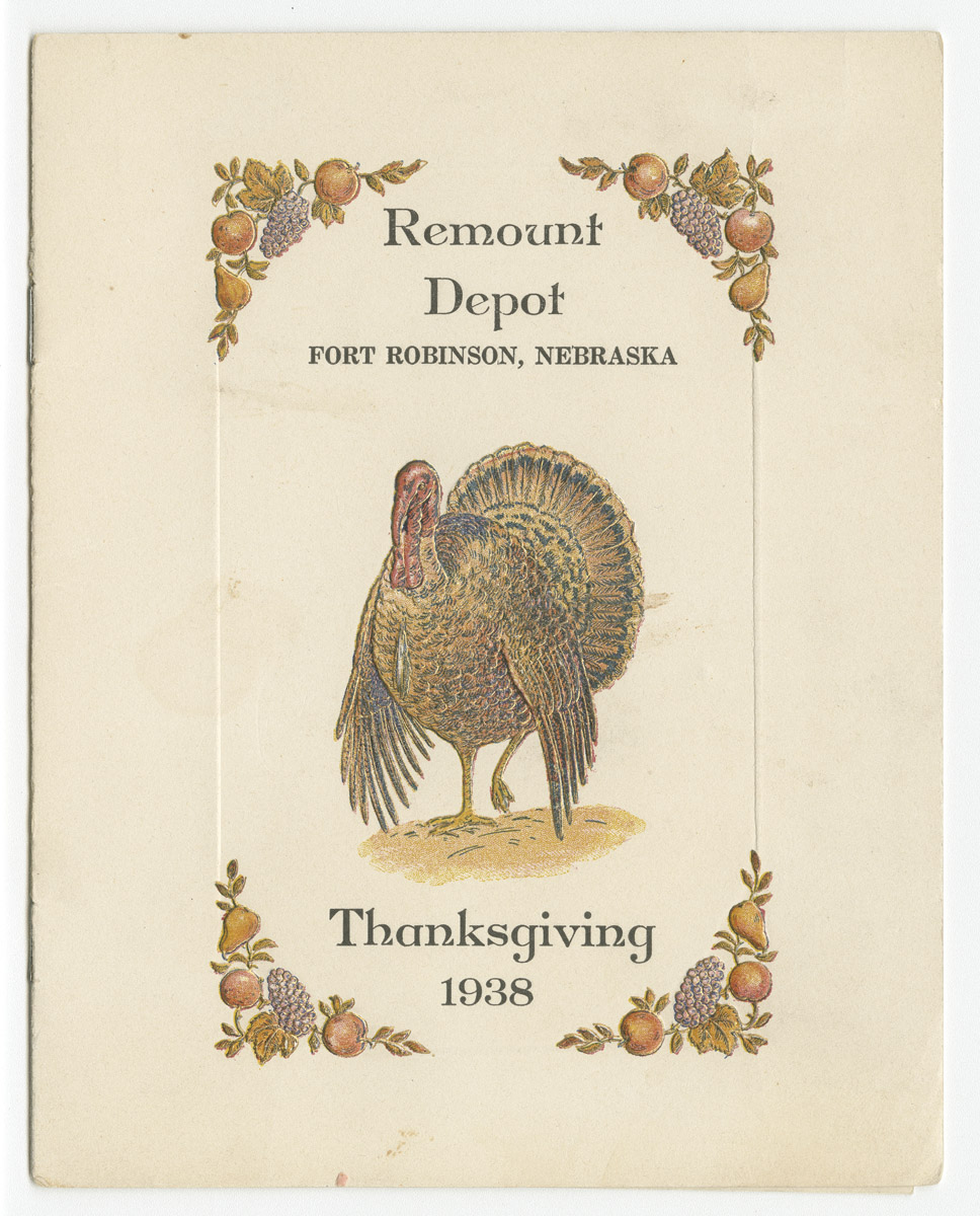 printed booklet with turkey on front cover