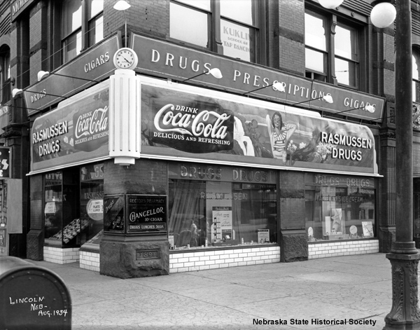 Image of a corner drug store