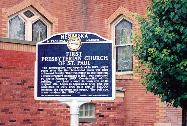 First Presbyterian Church of St. Paul historical marker