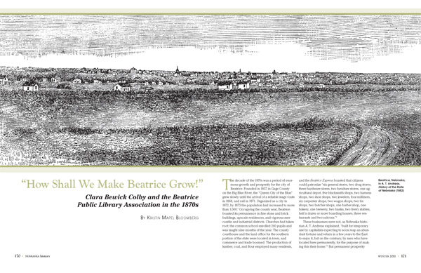 How shall we make Beatrice Grow article from Nebraska History Magazine