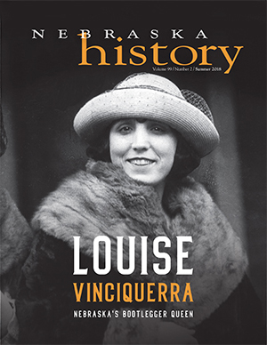 Louise Vinciquerra on cover of Summer 2018 Nebraska History