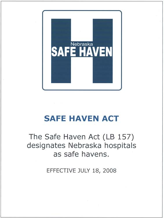 Safe Haven Act sign, 2008