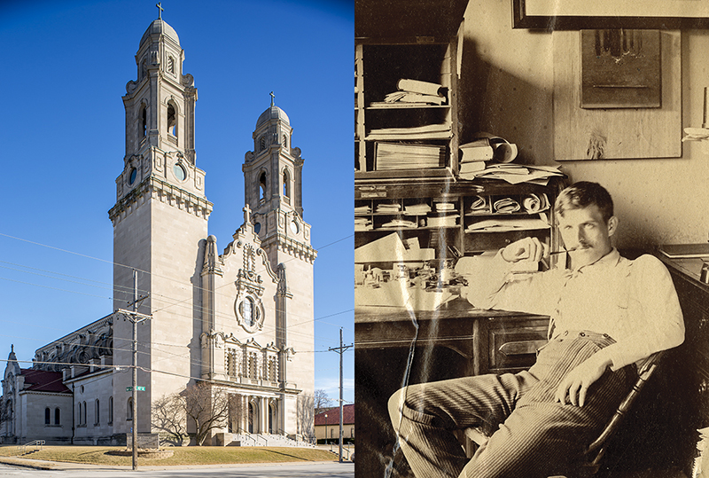left: St. Cecilia Cathedral; Right: Thomas R. Kimball ca. 1900