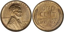 The Lincoln penny, first minted in 1909
