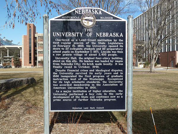 University of Nebraska Historical Marker