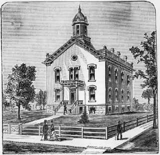 Hall County Courthouse from Johnsons History of Nebraska 1880