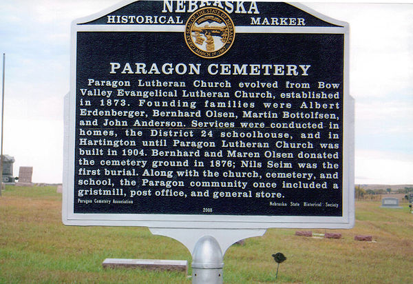 Paragon Cemetery Marker