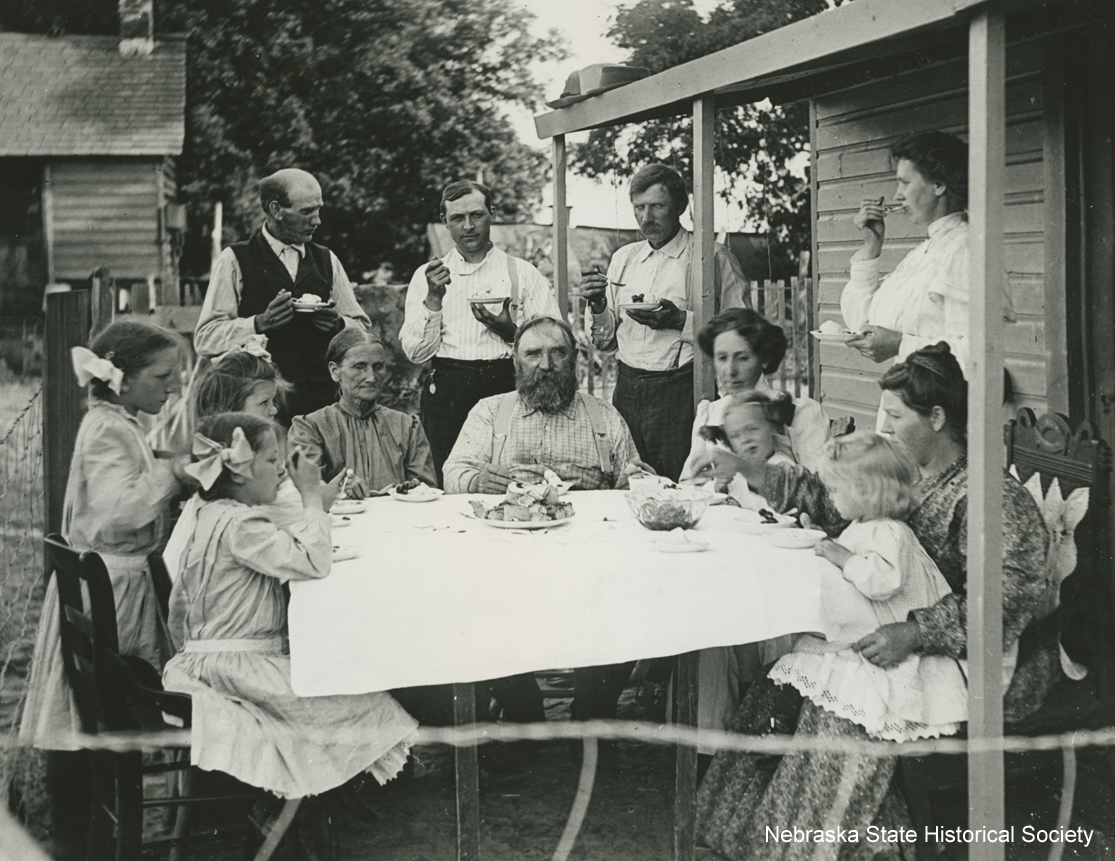 Nelson family enjoying ice cream, ca. 1910 [RG3542.PH000012-000007]
