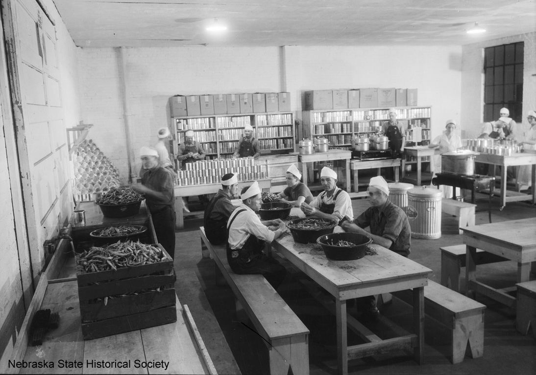 Workers at the 24-hour canning center in Norfolk, Nebraska