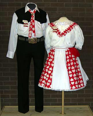 Square Dance costumes, ca. 1980s-1990s