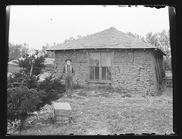 """Grand Pa"" Dailey, possibly in Milburn, Nebraska, 1886 or 1887, Solomon D. Butcher, photographer.  [RG2608.PH1036]"