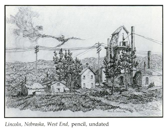 Lincoln, Nebraska, West End, pencil, undated
