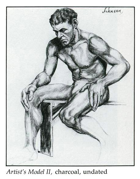 Artist's Model II, charcoal, undated