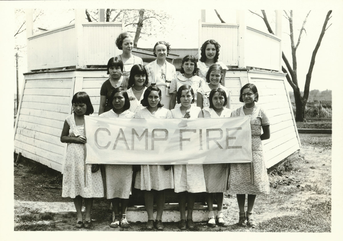 Genoa Indian School Camp Fire Girls