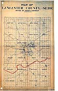 Lancaster County, Nebraska Map, 19--