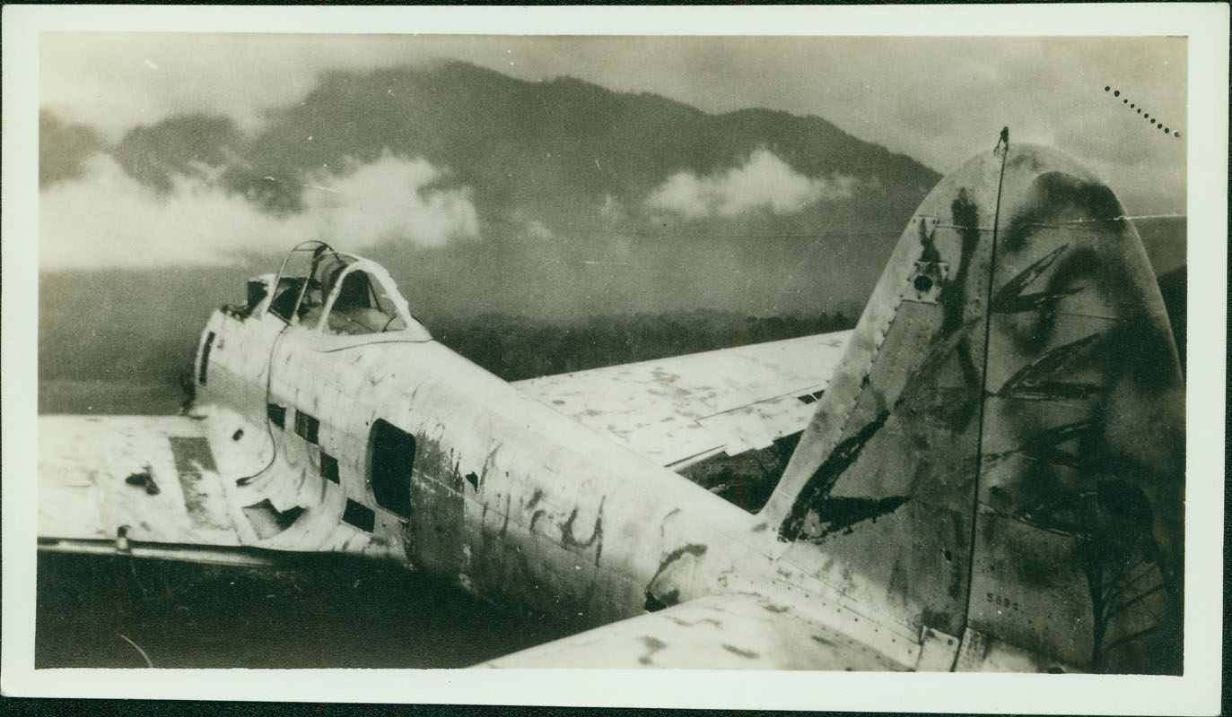 Wrecked Japanese plane [RG5841-8-4]