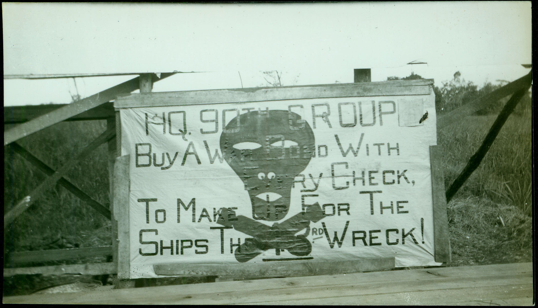 90th Bomb Group sign [RG5841-9-2]