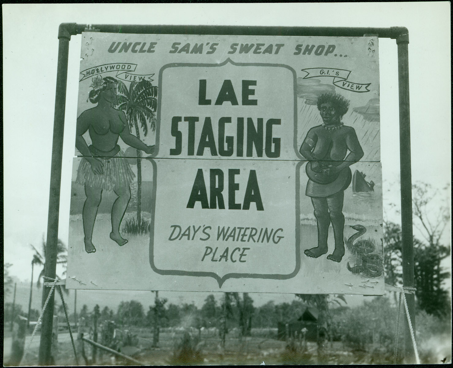 Billboard outside US Army Base [RG5841-9-5]