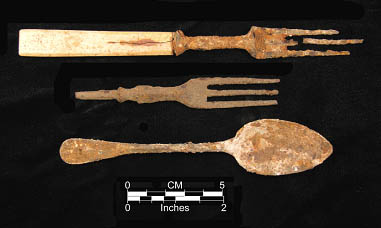territorial cutlery from the Rockport Townsite Locality