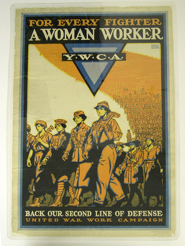 """For Every Fighter, A Woman Worker,"" YWCA poster"