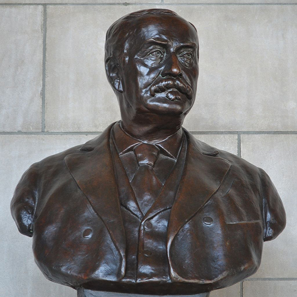 Bronze bust of J. Sterling Morton