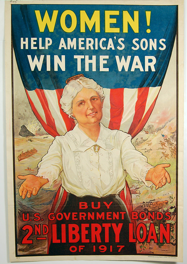 """Women! Help America's Sons Win the War"" poster"