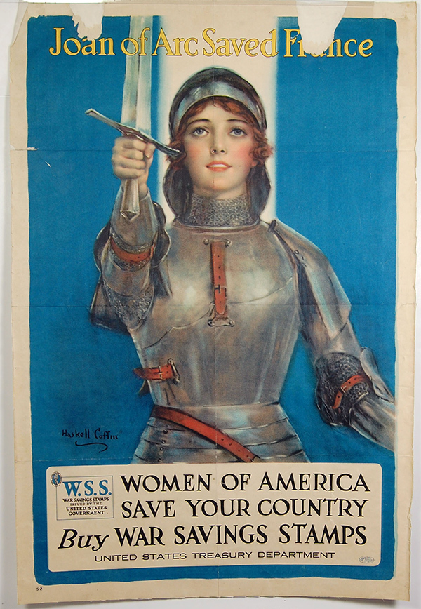 """Joan of Arc Saved France"" poster"