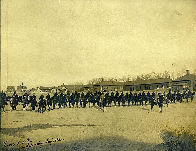 Troop 1, 10th Cavalry, Saturday inspection. [RG1517.PH000093-000005]