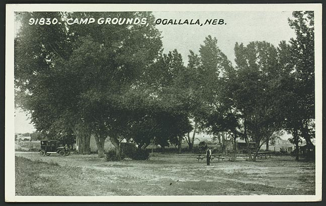 Campgrounds at Ogallala, Nebraska, about 1925. [RG0802.PH46-25]
