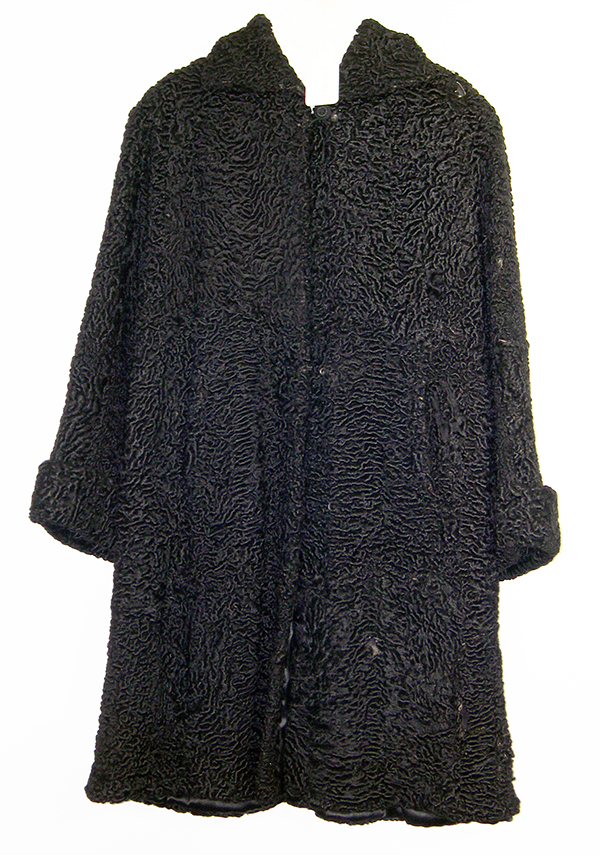 This 1937 Persian lamb's wool coat was the height of 1930s fashion and was a treasured possession of Hedwig Rosenberg of Frankfurt, Germany. NSHS 11588-263