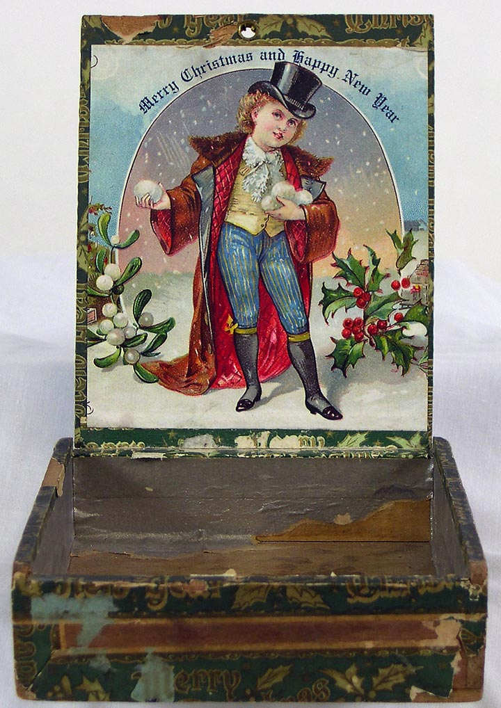Merry Christmas and Happy New Year Cigar Box, interior (13053-33)