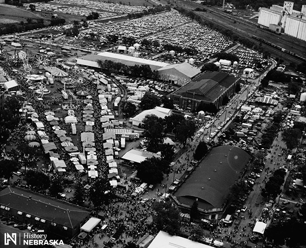aerial of fairgrounds