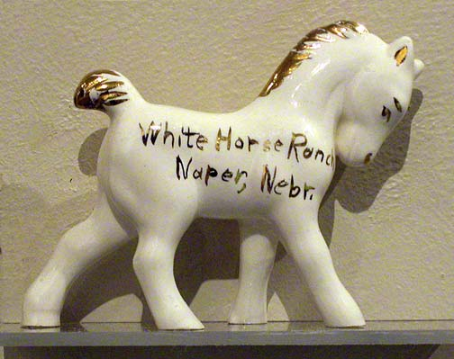 White horse ranch figurine Source: Bob Puschendorf, Lincoln