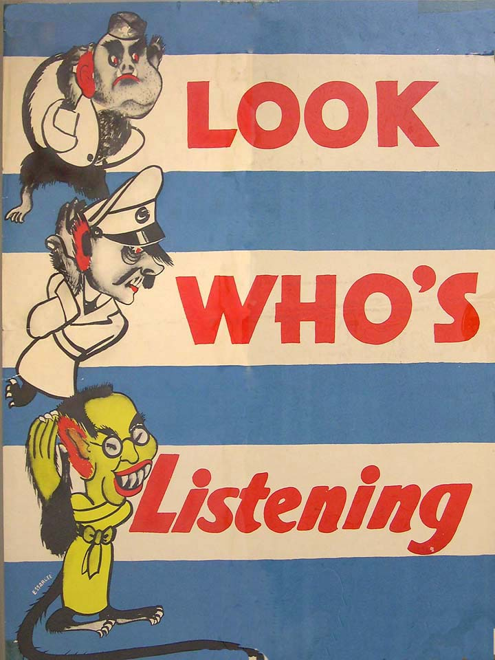 Look Who's Listening WWII poster [4541-363]