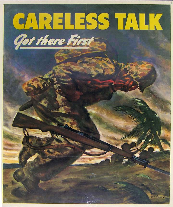 Careless Talk WWII poster [4541-368]