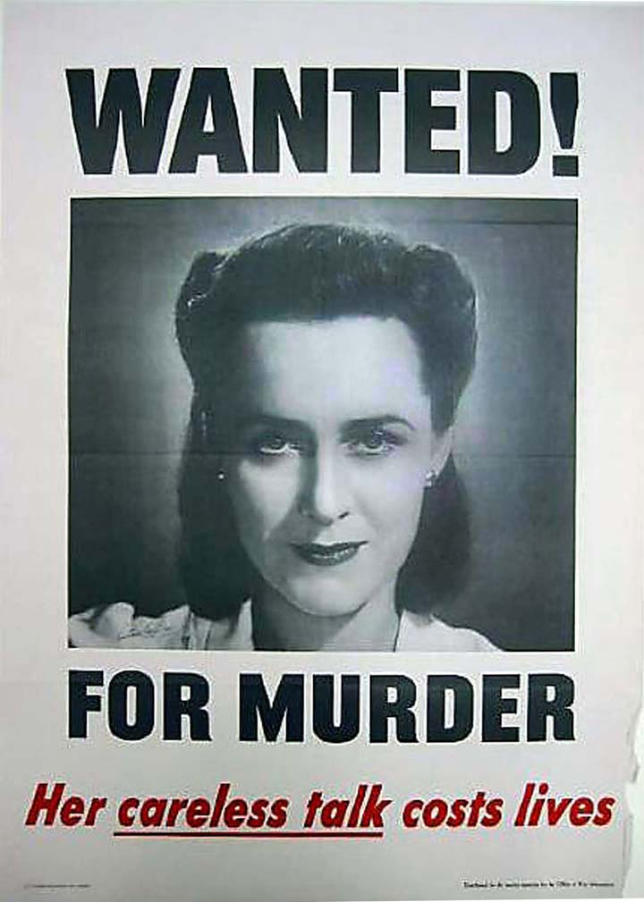 Wanted! WWII poster [4541-419-(1)]