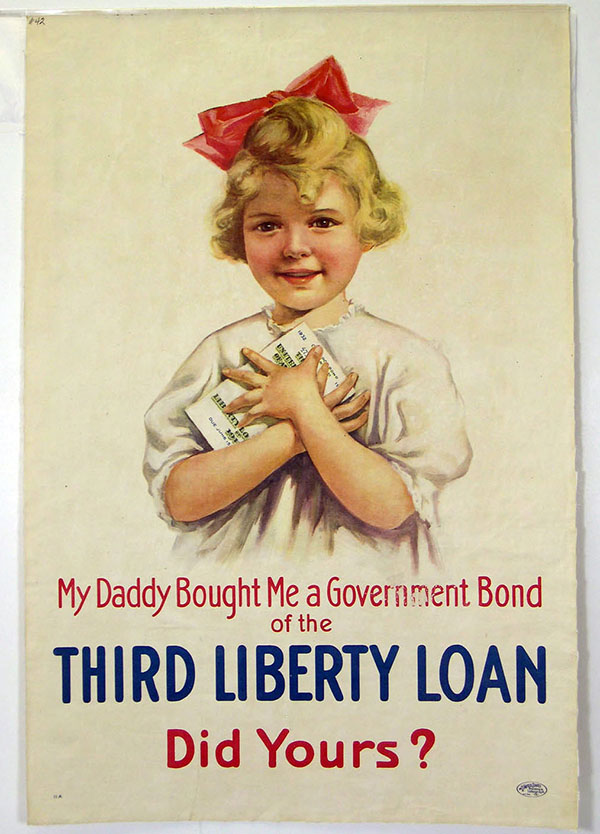 """My Daddy Bought Me a Government Bond"" poster"
