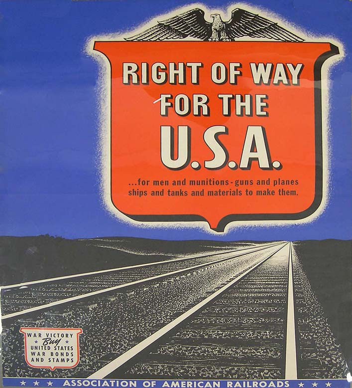 Railroad WWII poster [4541-758]