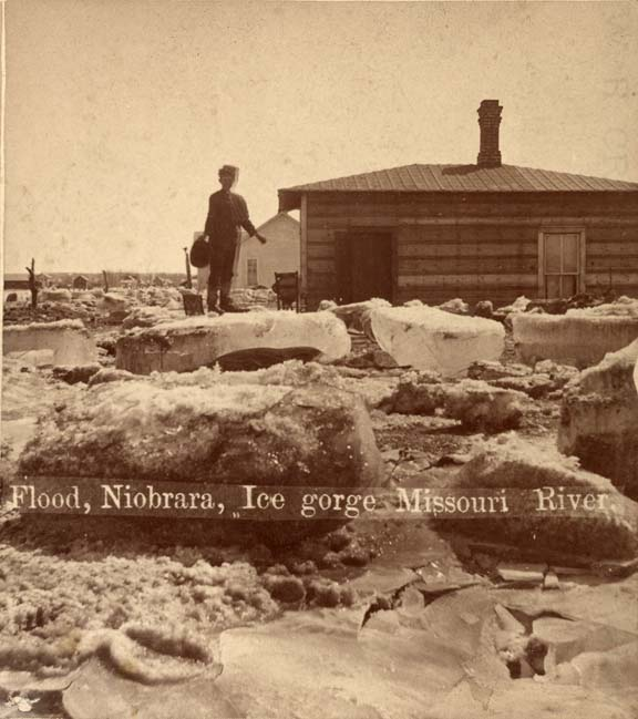 Ice gorge at Niobrara, 1881 (RG2118.PH5-16)