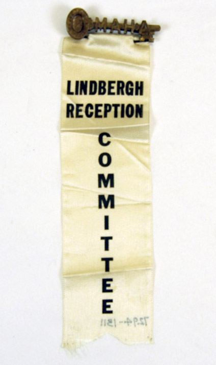 Ribbon, Lindbergh reception committee (NSHS 7294-1311)