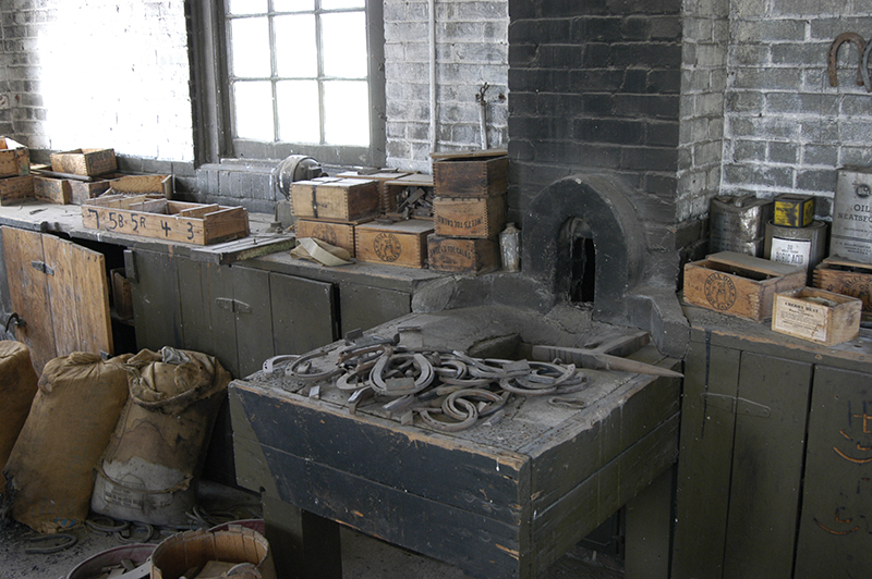 blacksmith shop at fort, present day