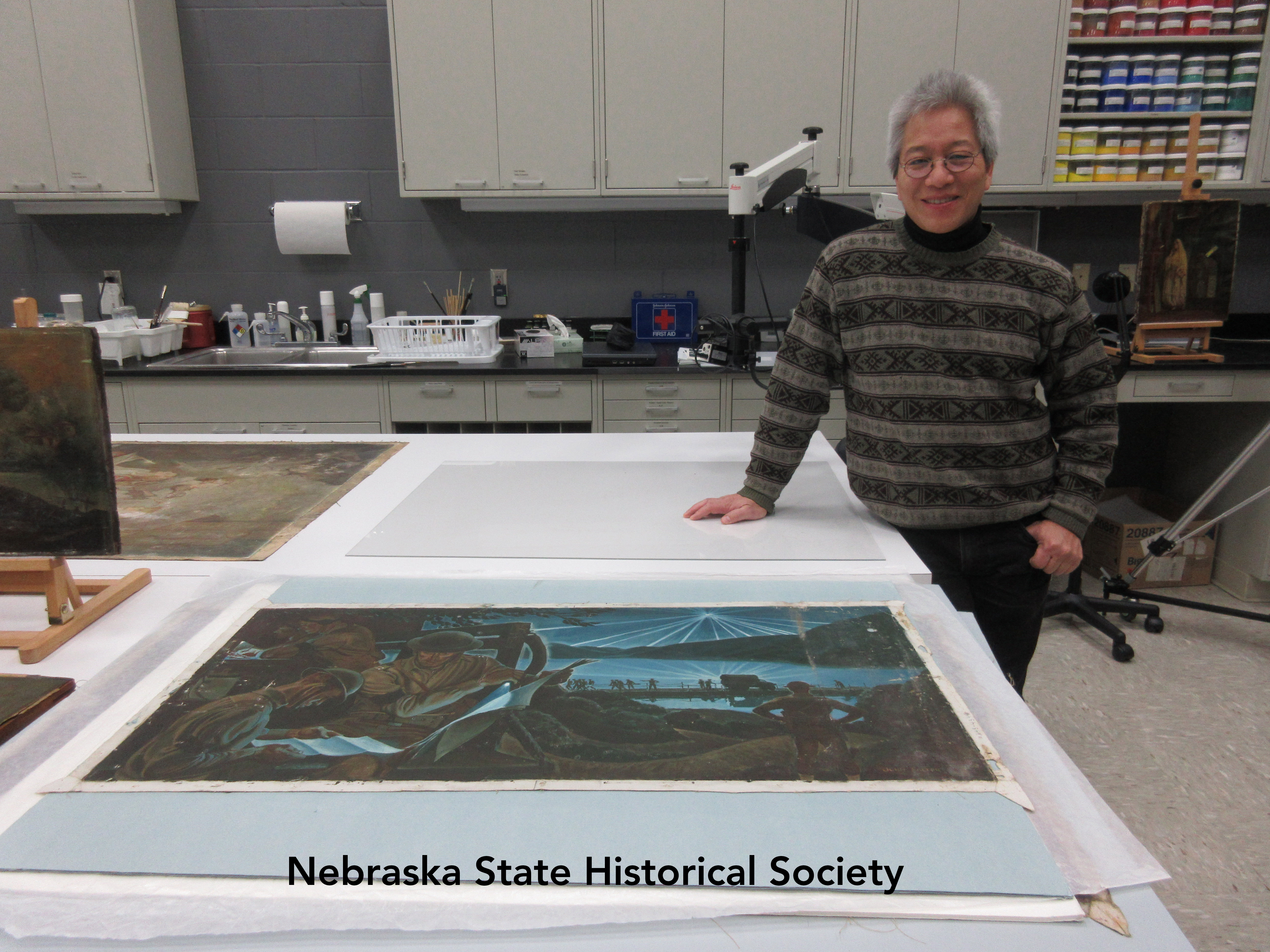 Kenneth Be, painting conservator at the Ford Center
