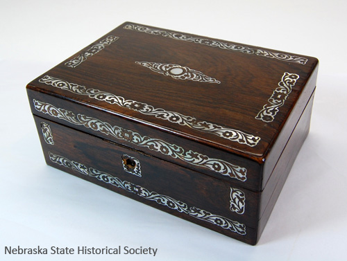 A sewing box that Frederick Douglass gave to Ruth Cox Adams