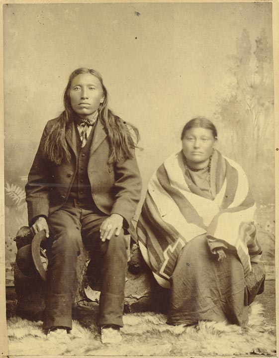 Young Spotted Tail and unidentified woman [RG0798-2-1]