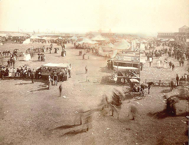 The state fairgrounds, looking south from the Amphitheater, 1888. NSHS RG3356-3